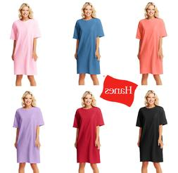 Hanes  Women's Oversized Wear Around One-size T-Shirt Dress