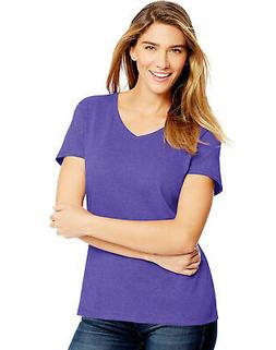 Hanes Women's V-Neck T-Shirt Tee FreshIQ X-Temp Tri-Blend Pe