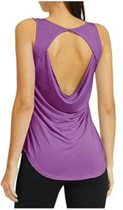 Baleaf Women's Yoga Shirts Workout Tank Tops Athletic Cowl B
