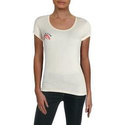 Billabong Womens Hey Baby Ivory Printed Casual Graphic T-Shi