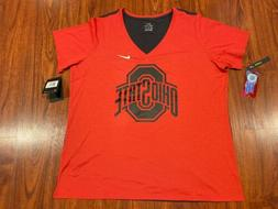 Nike Women's Ohio State Touch Performance V-Neck Football