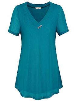 Timeson Work Shirts for Women Office,Plus Blouses, Womens To