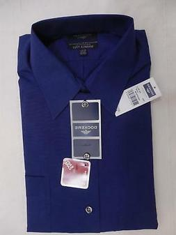 Dockers Wrinkle Free Mens Button Front Dress Shirt Woven Blu