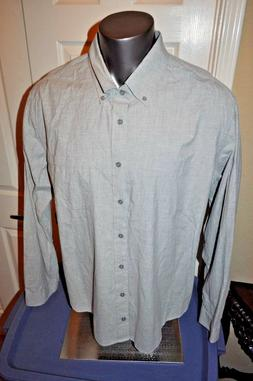MERONA  XLT/XXL Mens Big & Tall Gray Long Sleeve Button Down